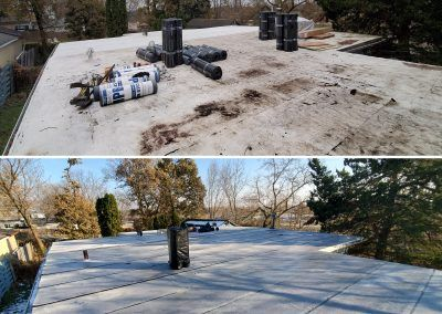 Elgin Flat Roof Replacement, you can see our before and after results.