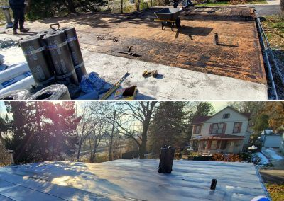 Elgin Flat Roof Replacement Before and After