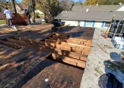 Elgin, IL Flat Roof Replacement deck replacement