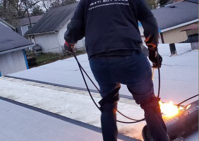 Elgin Flat Roof Replacement Infinite Renovations Torching Roof
